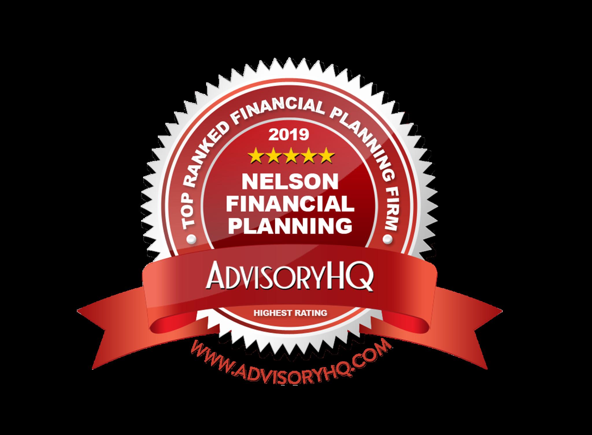 Nelson Financial Planning 2017 AdvisoryHQ Reward