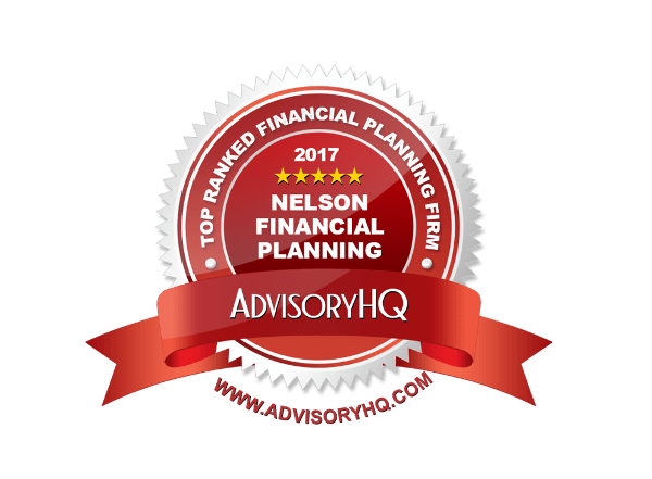 Nelson Financial Planning 2017 AdvisoryHQ Reward